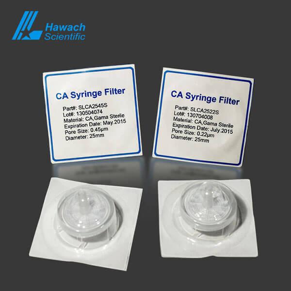 0.22 CA sterile Syringe Filter for HPLC